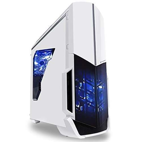 SkyTech ArchAngel GTX 1050 Ti Gaming Computer Desktop PC FX-6300 3.50 GHz 6-Core, GTX 1050 Ti 4GB, 8GB DDR3, 1TB HDD, 24X DVD, Wi-Fi USB, Windows 10 Pro 64-bit, White