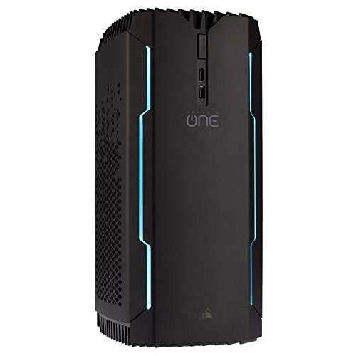 CORSAIR ONE PRO Compact Gaming Desktop PC, Intel Core i7‐8700K, GTX 1080, 480GB M.2 SSD, 2TB HDD, 16GB DDR4, VR-Ready